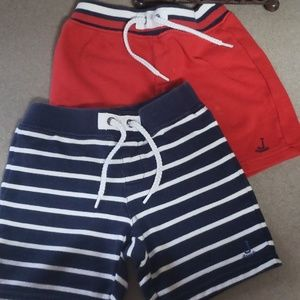Janie and Jack two pairs of knit 2T boys shorts